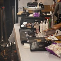 Cleveland's Got Style: Great Lakes Fashion Week Kicks Off With Accessory Show The LaChaé Cosmetics make-up station. Photo via Cecily Rus