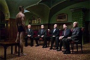 The mob gets a peek at Mortensen's Little Viggo in Eastern Promises.