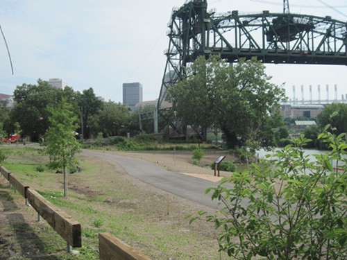 The new Scranton Flats/Towpath Trail may not have the most nimble title, but it sure spruces up this desolate section of Cleveland.