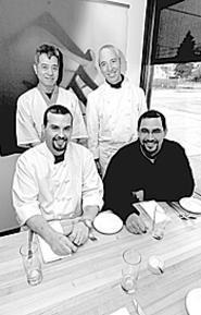 The Parallax team (clockwise from top left): Tervo Kinoshita, Zach Bruell, David Schneider, and Rob Guel. - WALTER  NOVAK