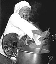 The Sauce Boss sings the blues and cooks the - gumbo.