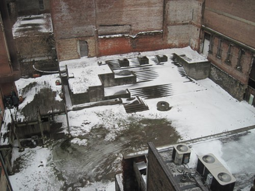 The secret courtyard of mystery doesnt look like much in the dead of winter, but it attracts curiosity throughout the year.