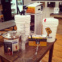 How to Get Started Brewing Your Own Beer at Home The shop sells starter kits that have all the equipment and ingredients you'll need to brew a batch. ERIC SANDY/SCENE