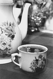 The star of National Hot Tea Month. - WALTER  NOVAK
