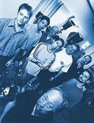 The Wu crew -- director Johnny Wu, center. - WALTER  NOVAK