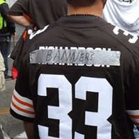 The Recent History Of The Cleveland Browns Told In 15 Now-Obsolete Jerseys This fan turned his Trent Richardson (2012-2013) jersey into a Browns CEO Joe Banner jersey. Doug Brown/Cleveland Scene