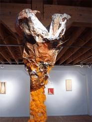 This installation is on view at Dott Schneiders Nervous - Bird exhibition at 1300 Gallery.