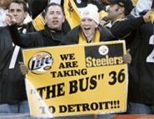 GETTY  IMAGES - This may be Brownstown, but Steeler fans in Parma know how to spread the green.