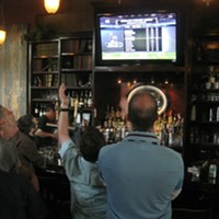 10 Lesser Known Cleveland Bars Great for Catching a Browns Game This West Bank of the Flats landmark is a hidden gem to watch the game. On home games it is a great place to tailgate and they offer a free shuttle to and from the stadium. Once inside, try the powerhouse perogies or the New England Clam Chowder. Flat Iron Cafe is located at 1114 Center St. Cleveland. Visit flatironcafe.com for more information. Photo Courtesy of Bob Golic's Sport Bars & Grill, Facebook