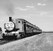 Thomas the Tank Engine rolls into town.