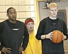 "WALTER  NOVAK - Three-fifths of the Cougars' 2006 starting lineup: Carlton Dean, Joe ""La Respuesta"" Tone, and Shane Conwell."