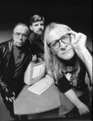 Three men and a maybe, from left: Tom Braidwood, - Bruce Harwood and Dean Haglund are The Lone Gunmen.