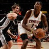 Time is running out for the wildly unpredictable Cavaliers, who, with the newly acquired Spencer Hawes have managed to win enough games in February to make the playoff conversation a little less theoretical. Tonight, with Waiters and Varejao back in the line-up (we hope), the Cavs must squash the destitute Knicks, whose abysmal season reached new lows when embattled fat point guard Raymond Felton was arrested on gun charges a couple weeks ago. Carmelo and his supporting cast of NBA question marks will do their best to stop the momentum of Kyrie, eyeing his first-ever NBA playoffs in his All-Star-MVP season. Tipoff is at 7:30 at the Q. Tickets start at $20. (Allard)