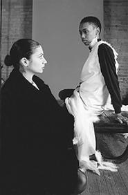 Tina Guster (left) with Ebani Edwards.