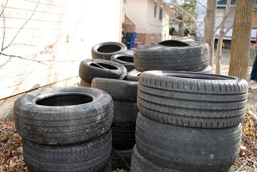 Tire dump site in Mount Pleasant