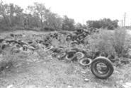 Tire dumpers prey on nonresidential areas. - WALTER  NOVAK