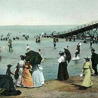 15 Vintage Cleveland Beach Photos Toboggans at Cedar Point beach.