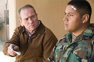 Tommy Lee Jones as veteran Hank Deerfield, seeking clues in his son's Iraq death.