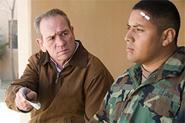 Tommy Lee Jones as veteran Hank Deerfield, seeking clues in his son's Iraq death.