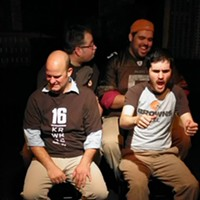 """10 Things Going on this Weekend in Cleveland (November 14 - 16) Tonight and tomorrow at Blank Canvas Theatre, the Laughter League takes the stage for their fall sketch extravaganza Enchantment Under the Sea. """"In order to save the future of the group, the Laughter League must travel back in time to 1955 to perform a sketch comedy show in the past,"""" says the group's event page. It's a full 90 minutes of brand new material and, at $15 a pop, these shows are some of the most worthwhile and unique — not to mention laugh-out-loud funny — weekend activities you could ask for in Cleveland. Plus, if you come dressed in a '50s-era costume, you'll get $5 off your ticket. (However, you are encouraged to reserve a seat at laughterleague.com, because the intimate theater sells out fast!) Tonight's show takes place at 8 p.m.; shows are scheduled for tomorrow night too. (Allard) Photo via Cleveland Scene Archives"""