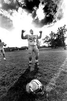 WALTER  NOVAK - Tony Chiaravalle stretches out before a game.