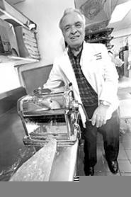 Tony Gallo, Agostino's master of pasta. - WALTER  NOVAK