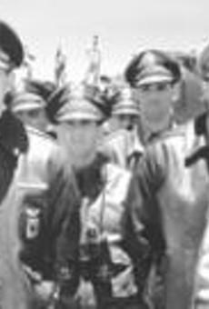 Tough guys Hartnett (left) and Affleck.