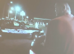 Still frame from a body camera in use in Cleveland - CLEVELAND POLICE