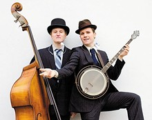 TWO-MAN GENTLEMEN, quite possibly the most dapper act slated for this year's Oberlin Folk Festival.