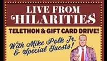 Mike Polk Jr. to Host Tonight's Online Fundraiser for Hilarities