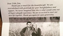 Ryan Merritt and His Fiancee Sent Out Thank You Notes to Indians Fans Who Bought Gifts Off Their Registry