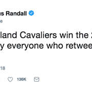 If Cavs Win the NBA Finals, A Bunch of People on Twitter Will Disappoint Everyone Who Retweeted Them