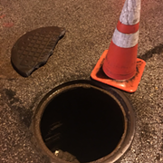 Here's What One of the Manhole Cover Explosions in Downtown Cleveland Last Night Sounded Like