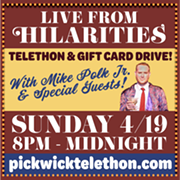Mike Polk Jr. to Host Tonight's Online Fundraiser for Hilarities
