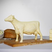 With the Ohio State Fair Canceled, the Butter Cow Sculpture Tradition Lives On As a DIY Home Project