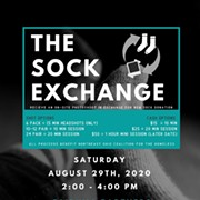 """Sock Exchange"" Event Saturday Will Provide Head Shots for Donations to Homeless"