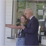 Joe Biden Stopped by a Honey Hut for Some Ice Cream During His Trip to Cleveland Today