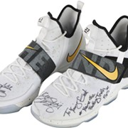 LeBron's 2017 Playoff-Worn LeBron 14s that He Gave to Kyrie with Greatest Inscription of All Time Can be Yours