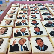 Amherst Bakery Selling Cookies With Candidates' Faces on Them
