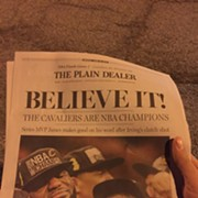 Historic Cavs Championship Plain Dealer Sold at 2:30 a.m. at Production Facility