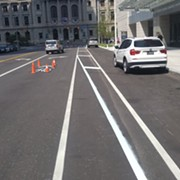 "Downtown Hilton Fails to Grasp Meaning of ""Bike Lane""; Cleveland Transportation Theatre Continues to Plumb Absurdity's Depths"