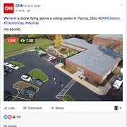 CNN Is Doing Facebook Live Video From a Drone Above Parma for Some Reason
