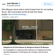 Josh Mandel Shared an Unsubstantiated, Three-Year Old Story About Abuse Allegations at an Ohio Mosque
