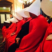 Women Dressed Like Handmaids in Columbus Today To Protest Kasich's 19th Abortion Restriction
