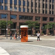 10-Foot Prescription Bottle in Public Square Draws Attention to Opioid Epidemic