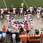 Browns Players Kneel and Pray During National Anthem in Largest Such NFL Protest to Date