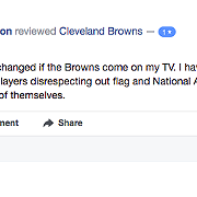 A Sampling of Completely Level-Headed Facebook Reviews of the Cleveland Browns After Players Knelt and Prayed During the National Anthem Last Night