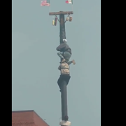 Video: Here's the Winning Climb From the Greasy Pole Competition at St. Rocco's Yesterday