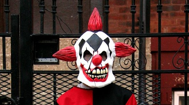 This is not the clown mask used in Saturday's incident. - WIKIMEDIA PHOTO