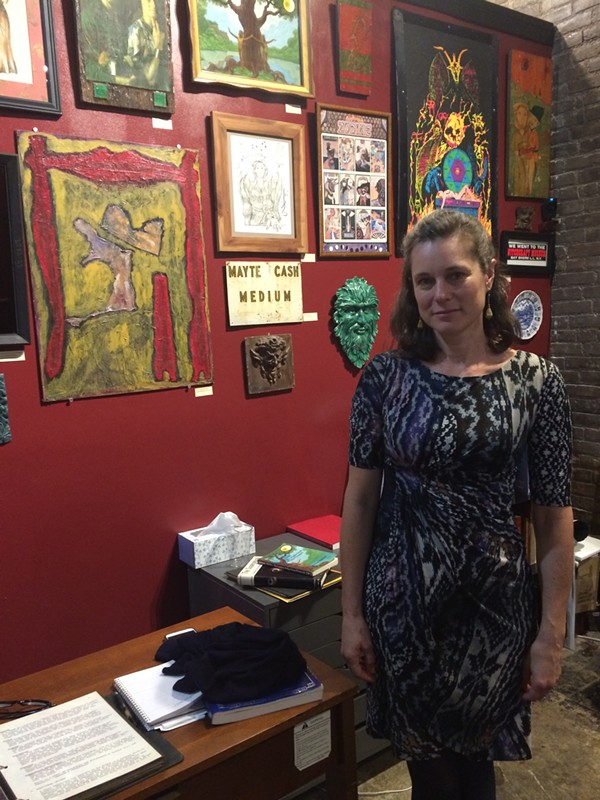 Anyone entering Buckland Gallery of Witchcraft & Magick in Tremont receives a tour from museum director Jillian Slane. - LAURA MORRISON